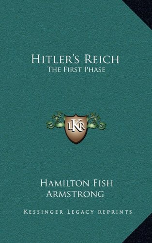 9781168961655: Hitler's Reich: The First Phase