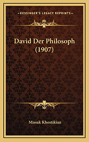 9781168983824: David Der Philosoph (1907) (German Edition)
