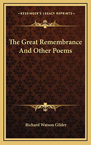 9781168989963: The Great Remembrance and Other Poems