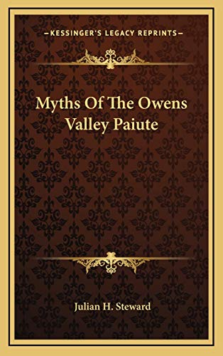 9781169017689: Myths Of The Owens Valley Paiute