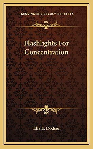 9781169045859: Flashlights For Concentration