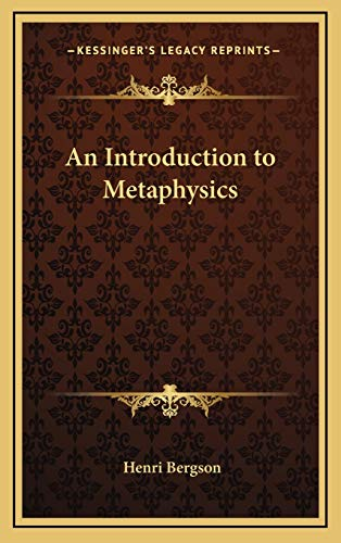 9781169065949: An Introduction to Metaphysics