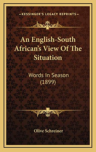 9781169068605: An English-South African's View Of The Situation: Words In Season (1899)