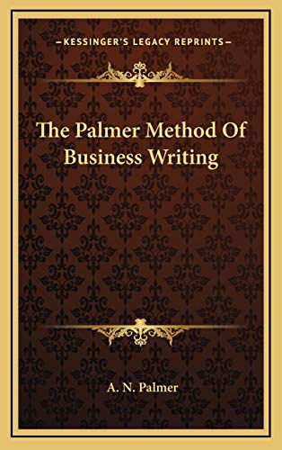 9781169083271: The Palmer Method of Business Writing