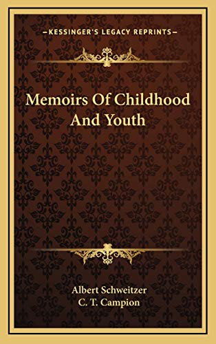 9781169109612: Memoirs Of Childhood And Youth