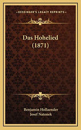 9781169114593: Das Hohelied (1871)