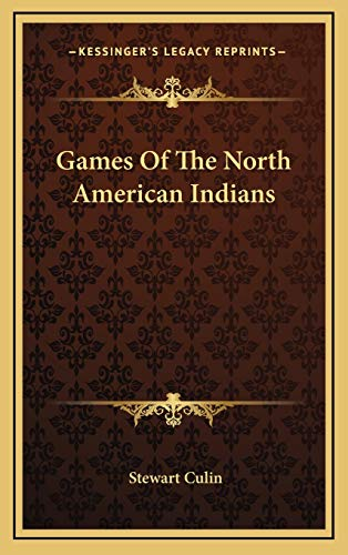 9781169153691: Games Of The North American Indians