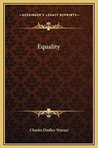 9781169164079: Equality