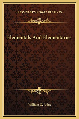 9781169168534: Elementals and Elementaries
