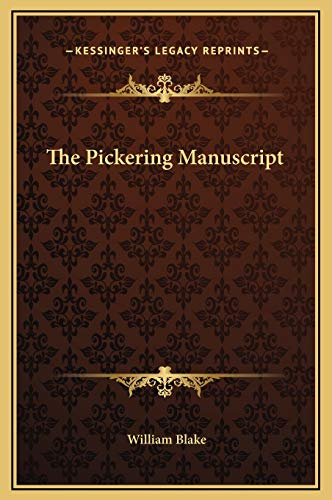 9781169169241: The Pickering Manuscript