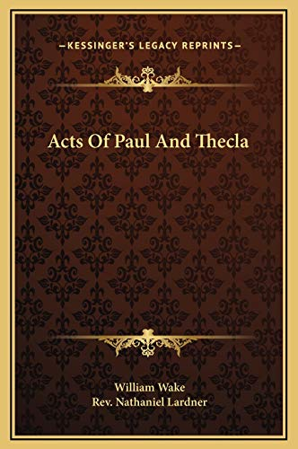9781169171282: Acts Of Paul And Thecla