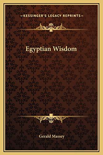 9781169176744: Egyptian Wisdom