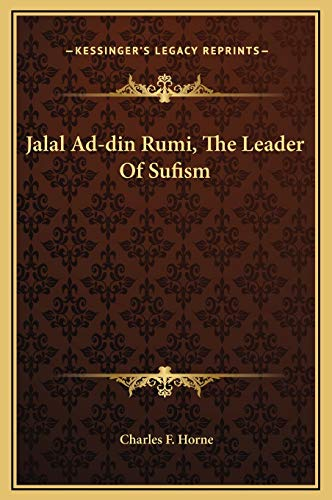 9781169179776: Jalal Ad-din Rumi, The Leader Of Sufism
