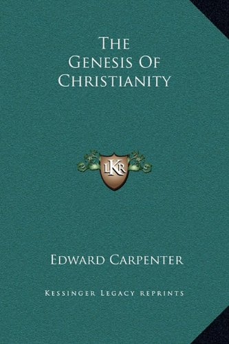 9781169182363: The Genesis Of Christianity