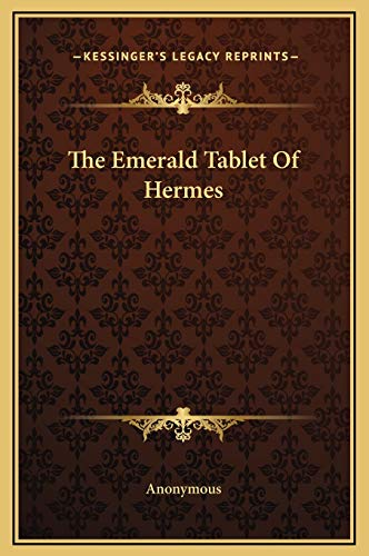 9781169187696: The Emerald Tablet of Hermes