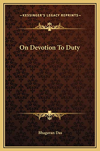 9781169191617: On Devotion to Duty