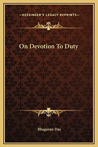 9781169191617: On Devotion to Duty