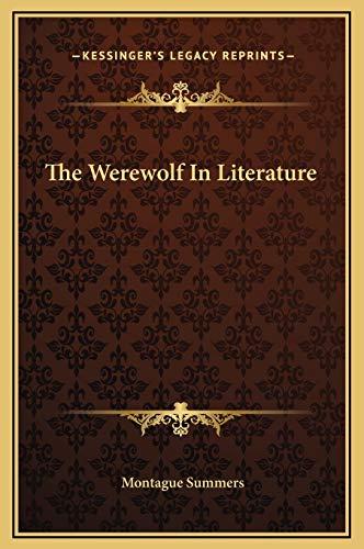 9781169192577: The Werewolf In Literature