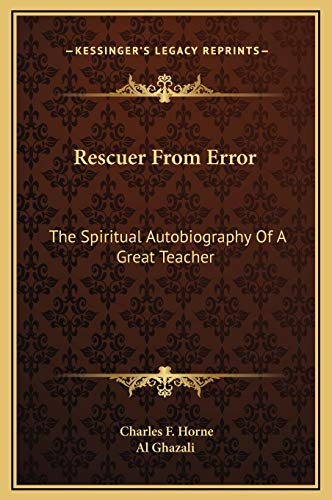 9781169194366: Rescuer From Error: The Spiritual Autobiography Of A Great Teacher