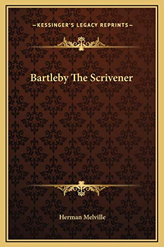 essay about bartleby the scrivener The apparently peculiar protagonist of herman melville's short story, bartleby, the scrivener, is a man whose attitude becomes marked by general refusal in the end.