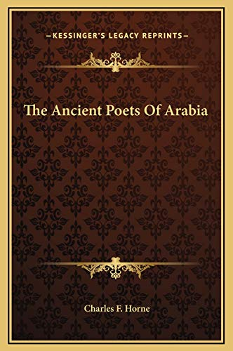 9781169198876: The Ancient Poets Of Arabia