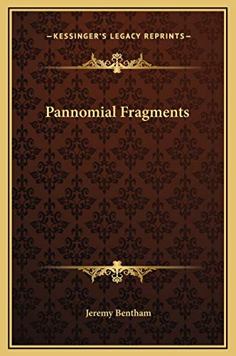 9781169205932: Pannomial Fragments