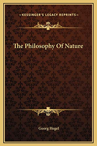 9781169212480: The Philosophy Of Nature
