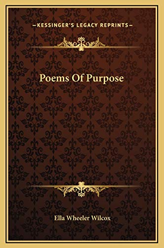 9781169224032: Poems Of Purpose