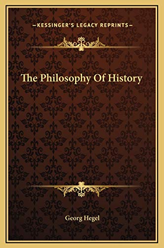 9781169225046: The Philosophy of History