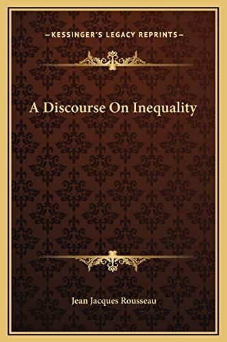 9781169225244: A Discourse on Inequality