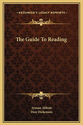 9781169227583: The Guide To Reading