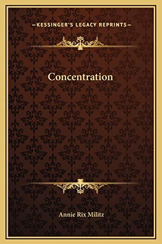 9781169230309: Concentration