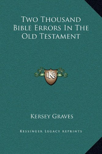 9781169231870: Two Thousand Bible Errors In The Old Testament