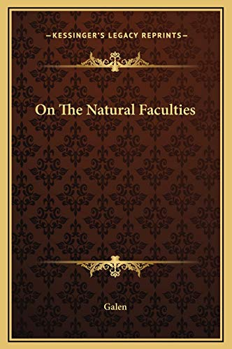 9781169235816: On The Natural Faculties