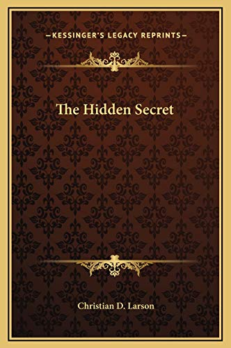 9781169237247: The Hidden Secret