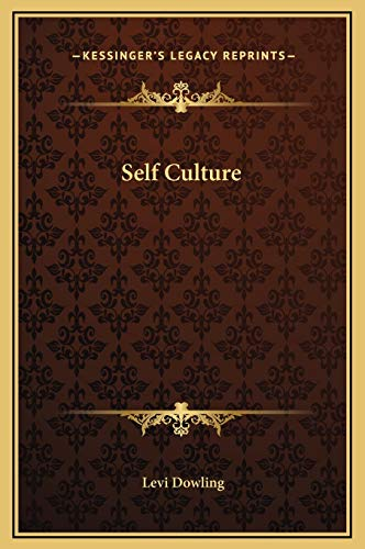 Self Culture 9781169237322 This scarce antiquarian book is a facsimile reprint of the original. Due to its age, it may contain imperfections such as marks, notations, marginalia and flawed pages. Because we believe this work is culturally important, we have made it available as part of our commitment for protecting, preserving, and promoting the world's literature in affordable, high quality, modern editions that are true to the original work.