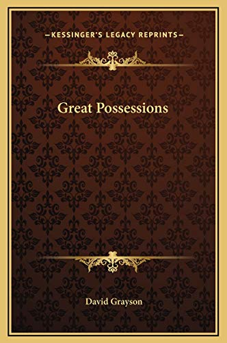 Great Possessions (1169242189) by David Grayson