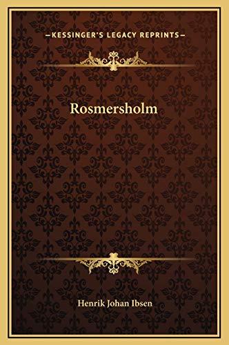 9781169244306: Rosmersholm
