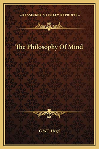 9781169255692: The Philosophy Of Mind
