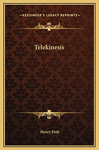 9781169258037: Telekinesis