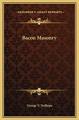 9781169261365: Bacon Masonry