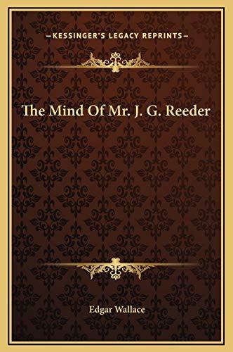 9781169262188: The Mind Of Mr. J. G. Reeder
