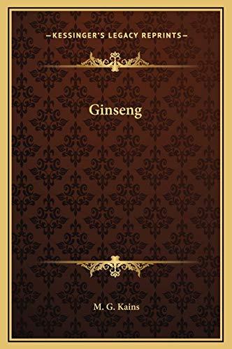 9781169267718: Ginseng