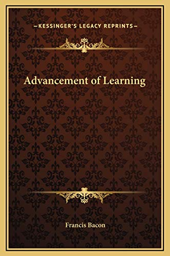 9781169269361: Advancement of Learning