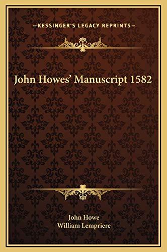 9781169274211: John Howes' Manuscript 1582