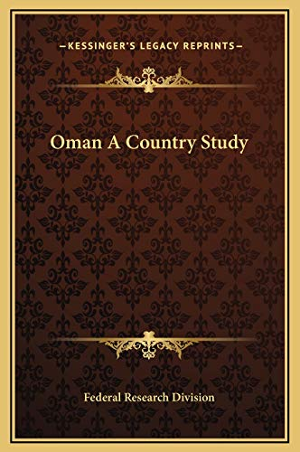 Oman A Country Study Federal Research Division