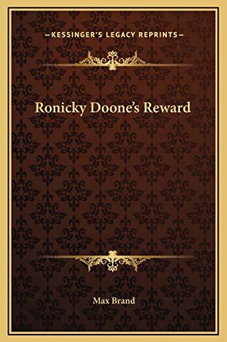 9781169288638: Ronicky Doone's Reward
