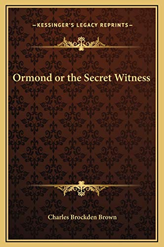 9781169295575: Ormond or the Secret Witness