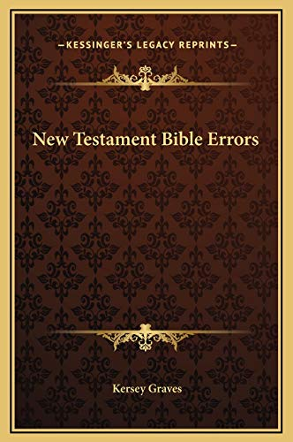 9781169297050: New Testament Bible Errors