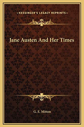 9781169298330: Jane Austen And Her Times